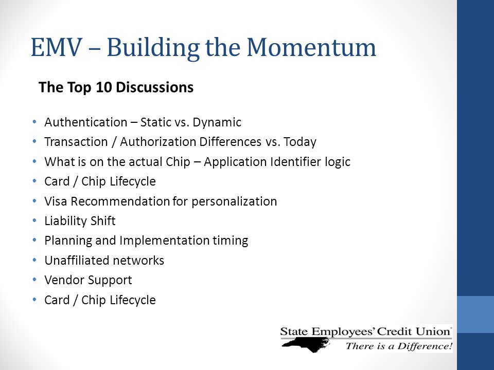 EMV – Building the Momentum