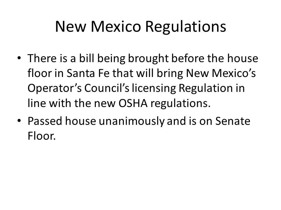 New Mexico Regulations