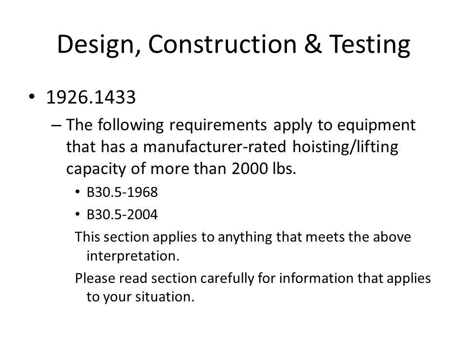Design, Construction & Testing