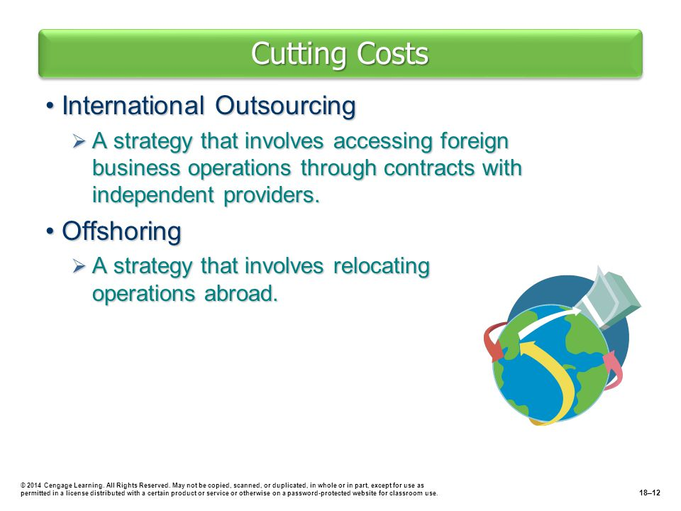 Cutting Costs International Outsourcing Offshoring