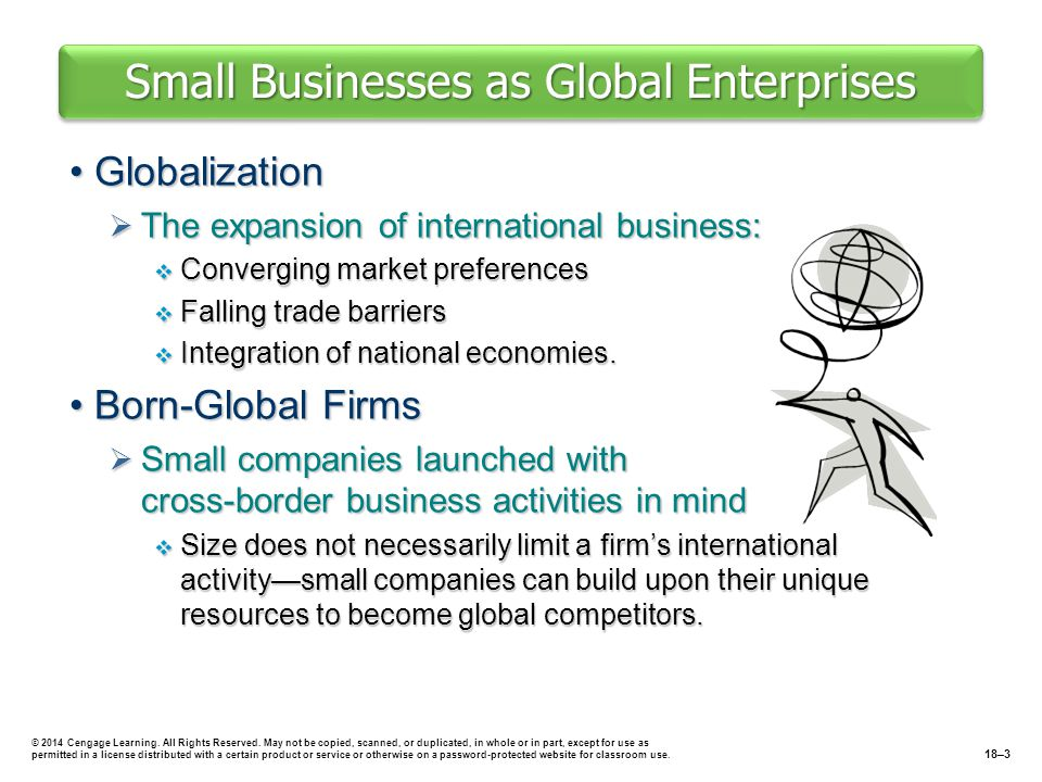 Small Businesses as Global Enterprises