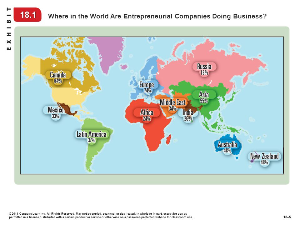 18.1 Where in the World Are Entrepreneurial Companies Doing Business