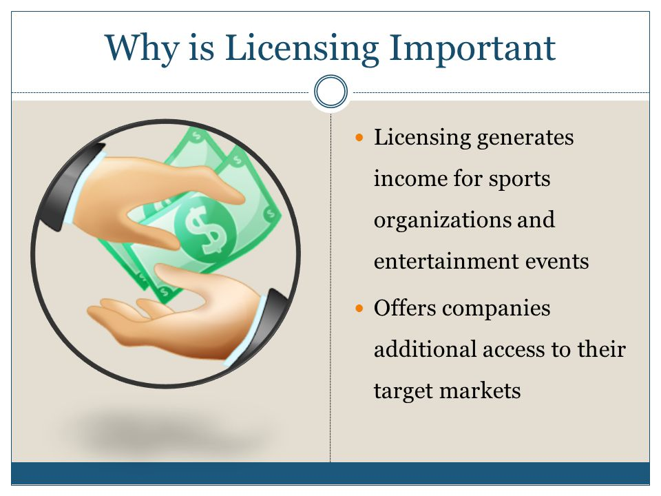 Why is Licensing Important