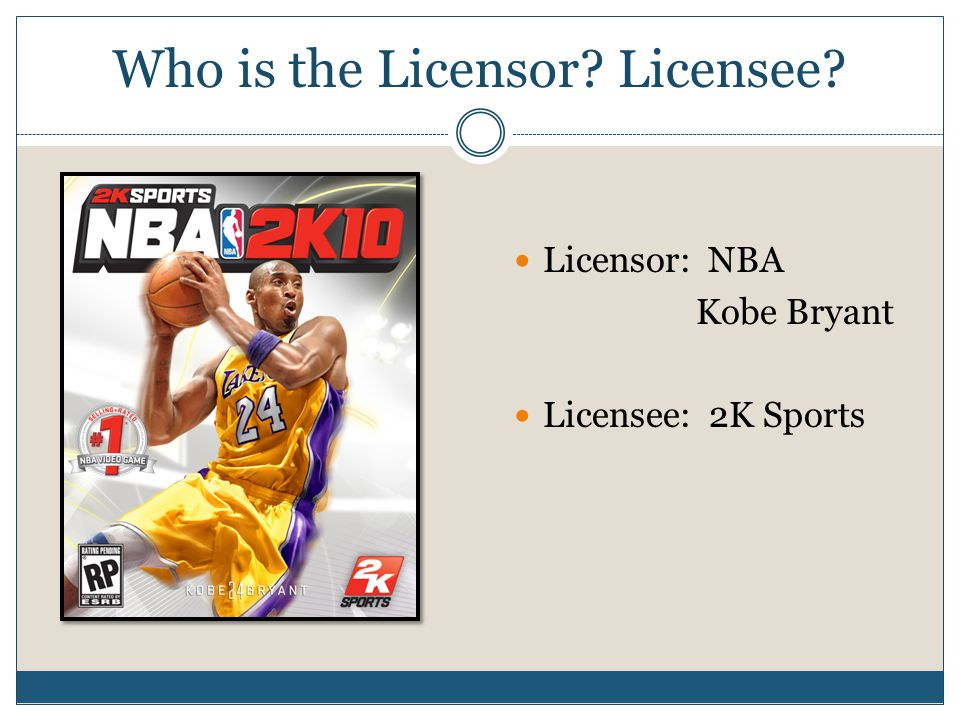 Who is the Licensor Licensee