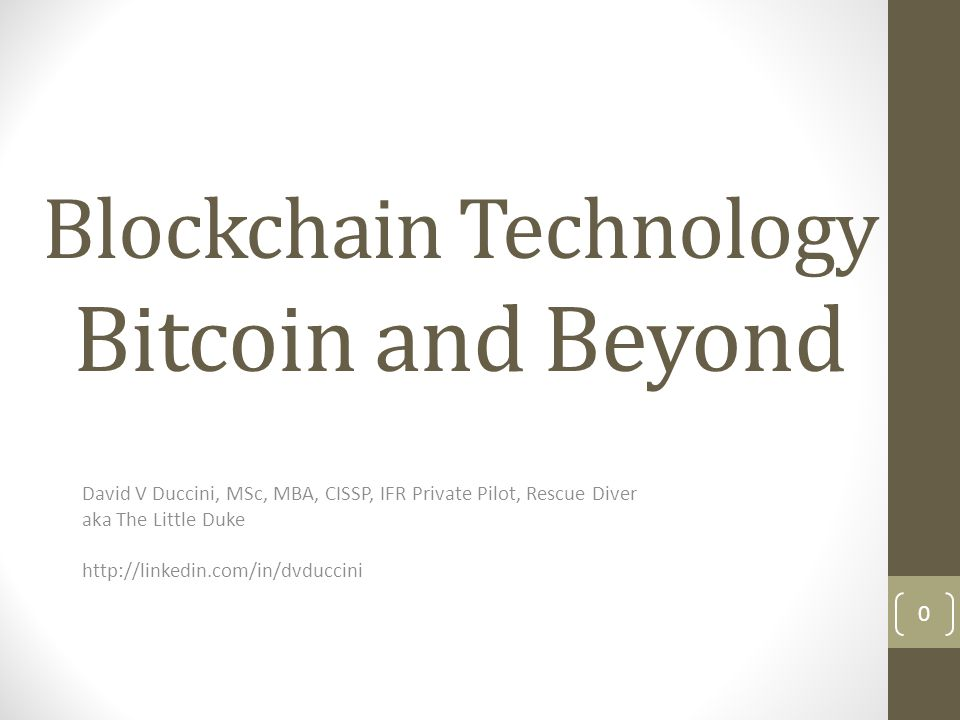 Agenda What is a Blockchain What is Bitcoin
