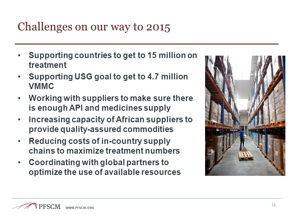 Challenges on our way to 2015