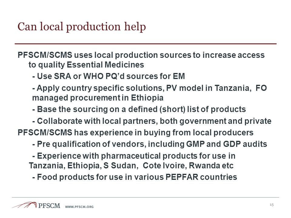 Can local production help