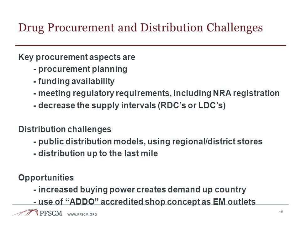 Drug Procurement and Distribution Challenges