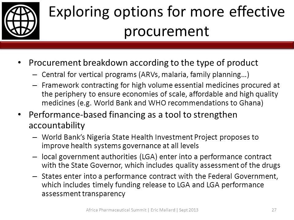 Exploring options for more effective procurement