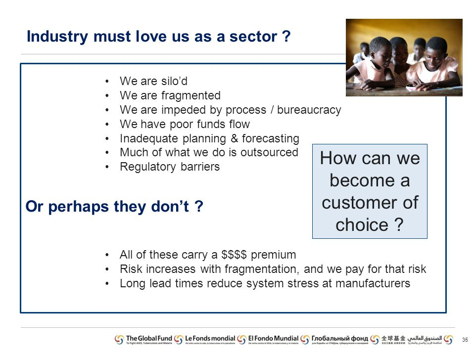 Industry must love us as a sector