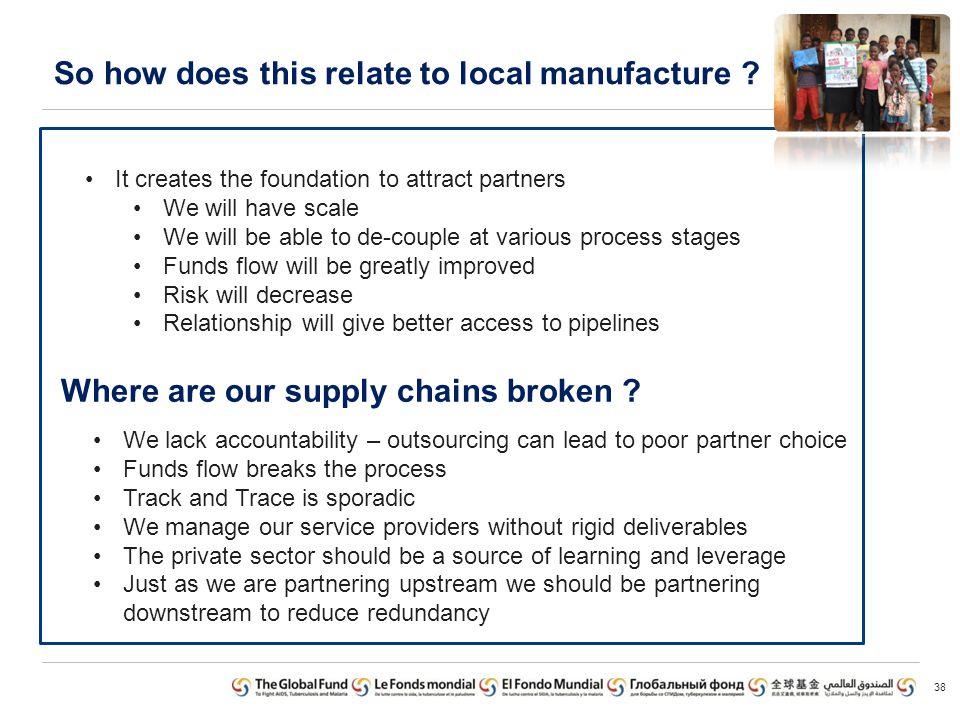 So how does this relate to local manufacture