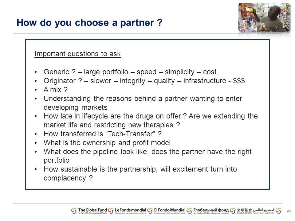 How do you choose a partner