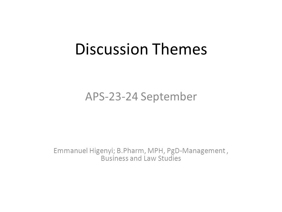Discussion Themes APS-23-24 September