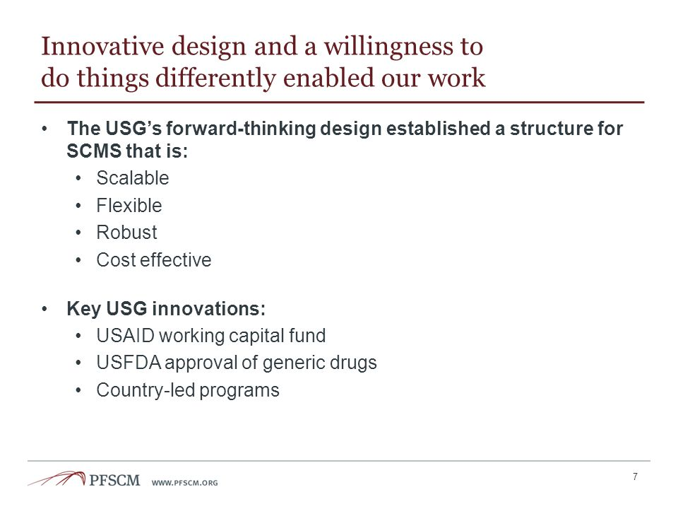 Innovative design and a willingness to do things differently enabled our work