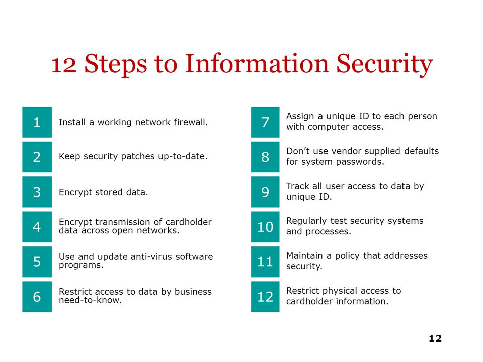 12 Steps to Information Security