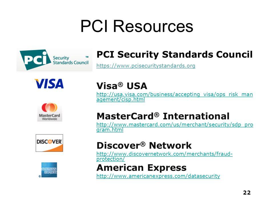 PCI Resources