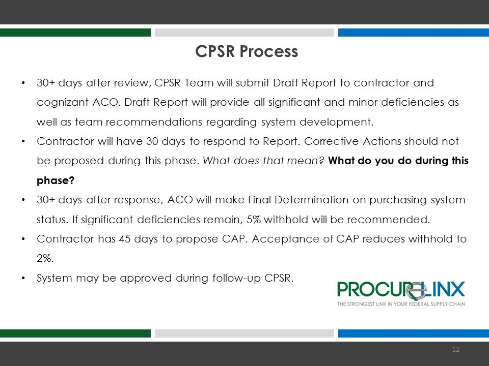 CPSR Process