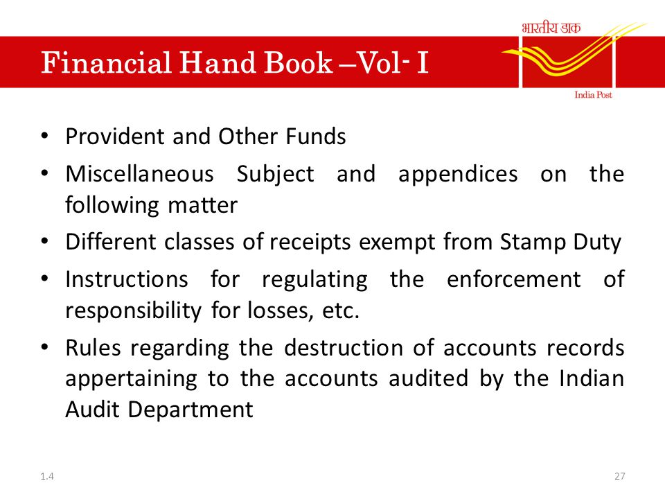 Financial Hand Book –Vol- I