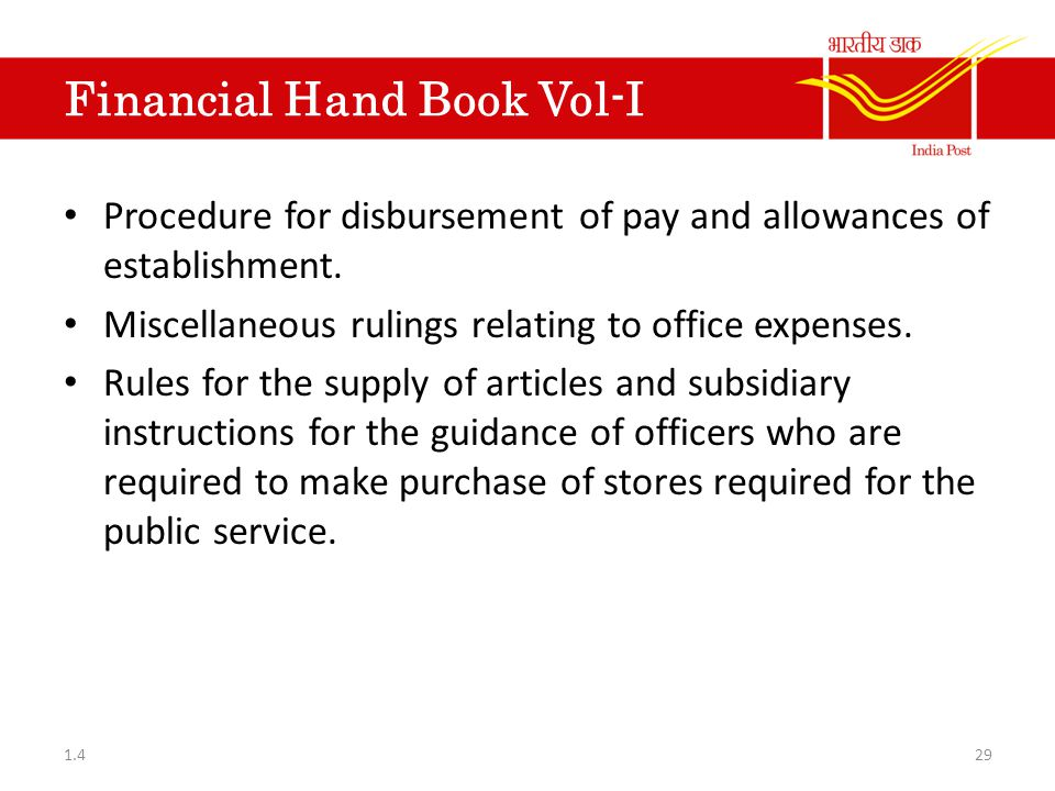 Financial Hand Book Vol-I