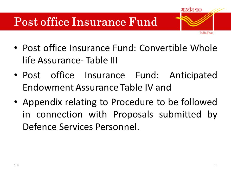 Post office Insurance Fund