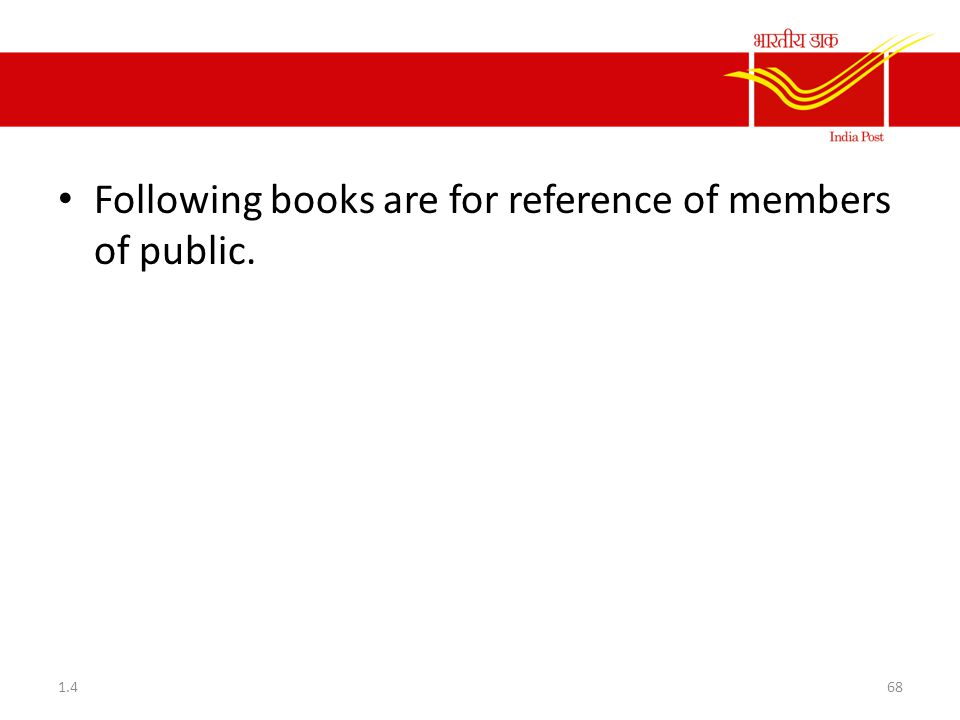 Following books are for reference of members of public.