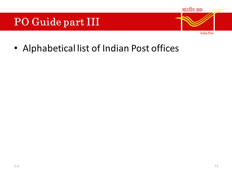 Alphabetical list of Indian Post offices