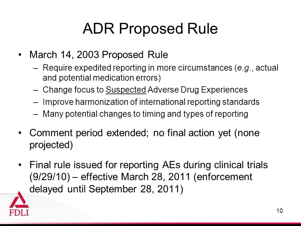 ADR Proposed Rule March 14, 2003 Proposed Rule
