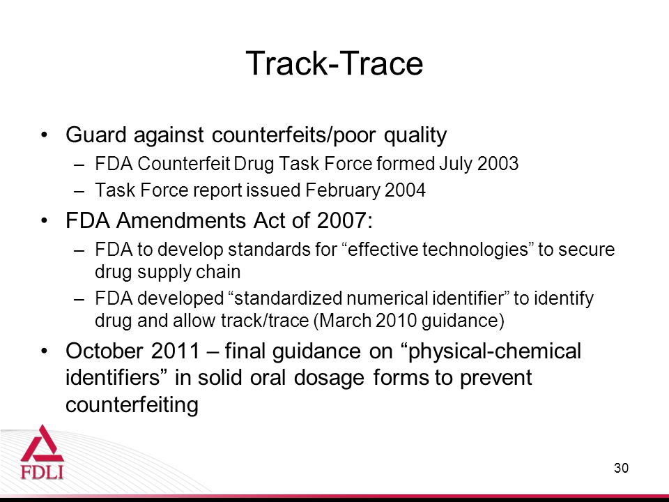 Track-Trace Guard against counterfeits/poor quality