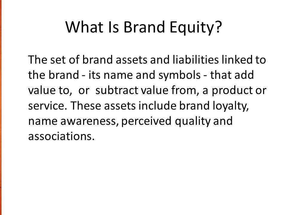 What Is Brand Equity