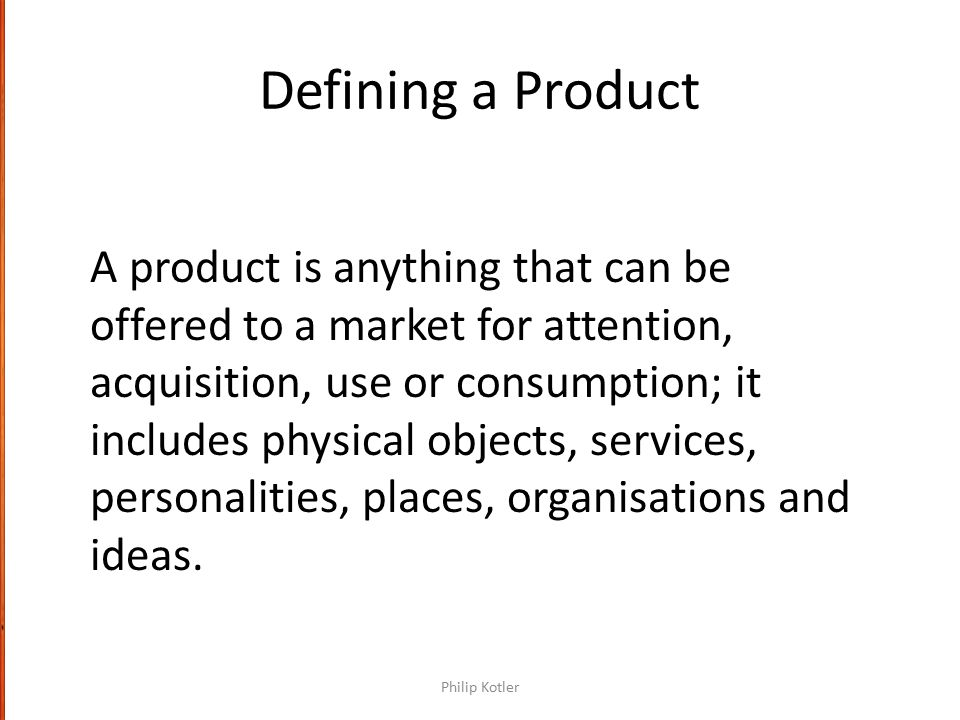 Defining a Product