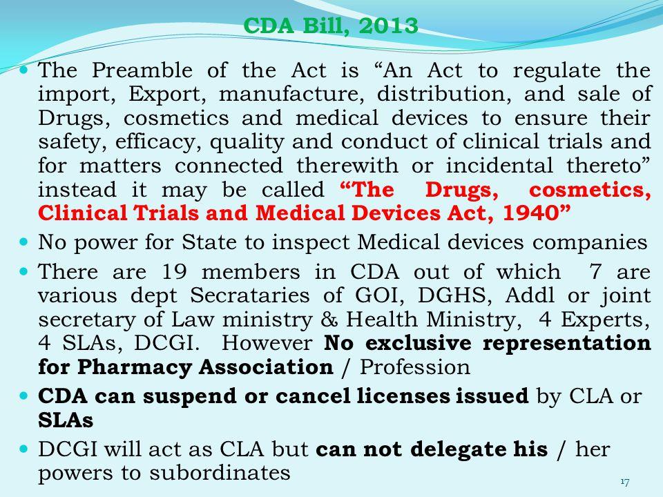 CDA Bill, 2013