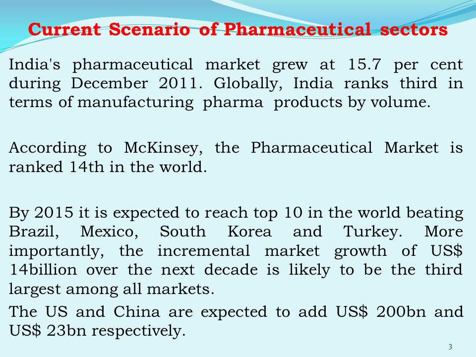 Current Scenario of Pharmaceutical sectors