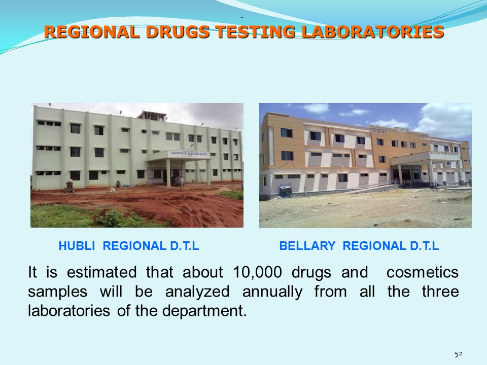 REGIONAL DRUGS TESTING LABORATORIES