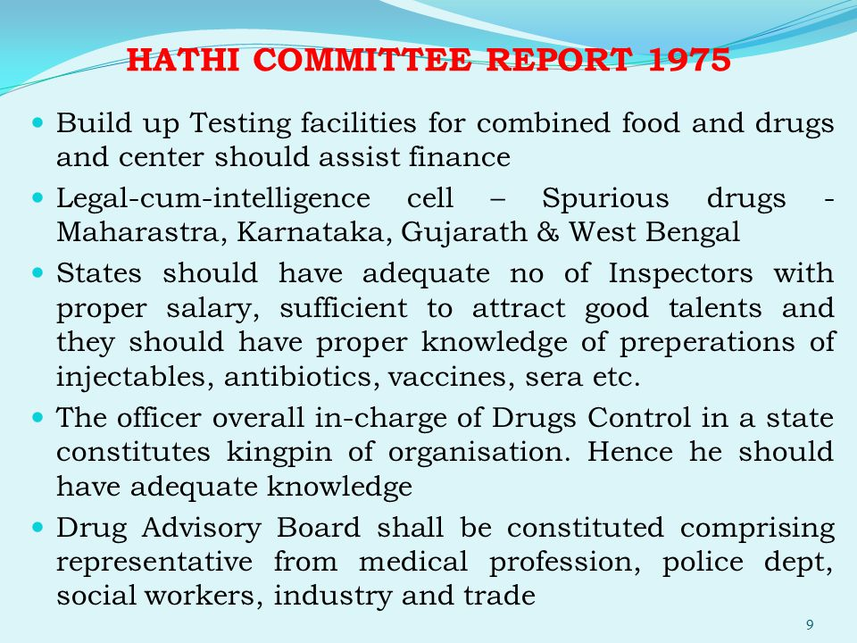 HATHI COMMITTEE REPORT 1975
