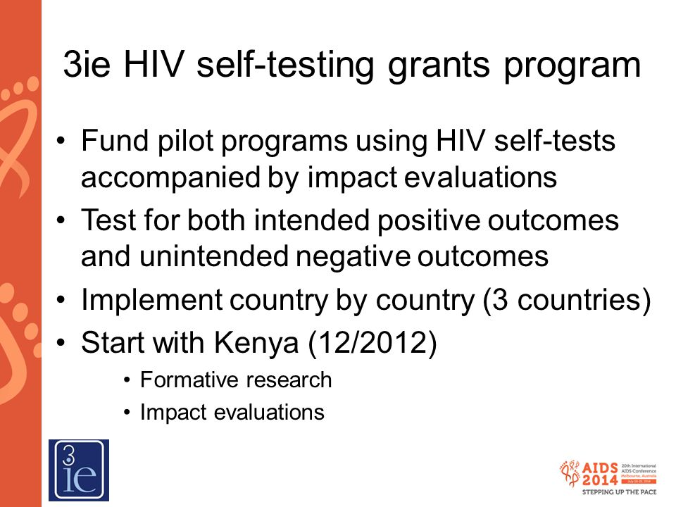 3ie HIV self-testing grants program