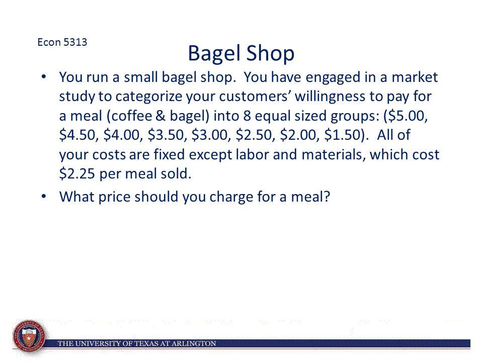 Econ 5313 Bagel Shop.