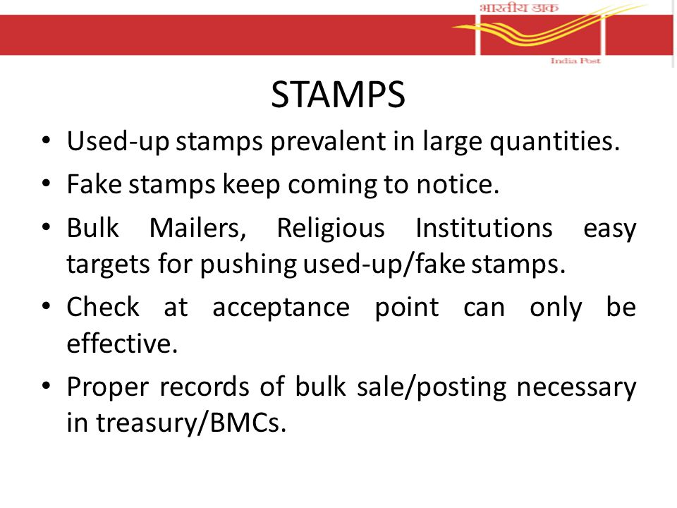 STAMPS Used-up stamps prevalent in large quantities.