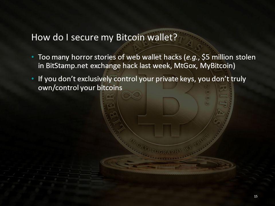How do I secure my Bitcoin wallet