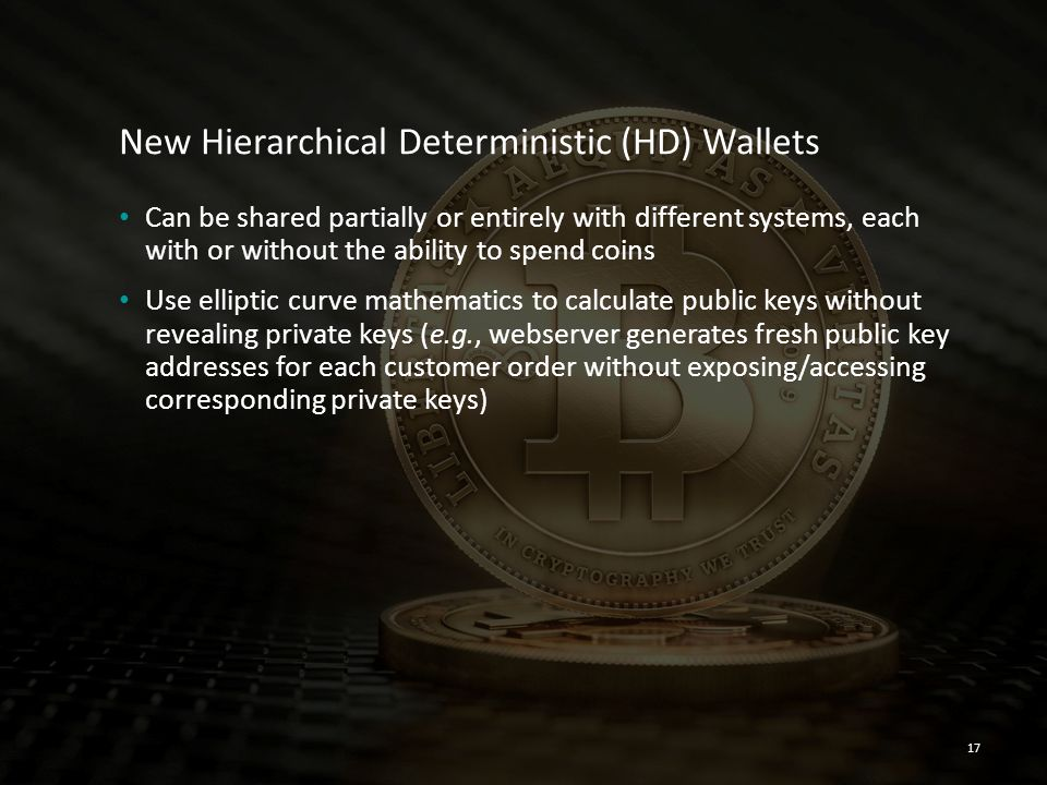 New Hierarchical Deterministic (HD) Wallets