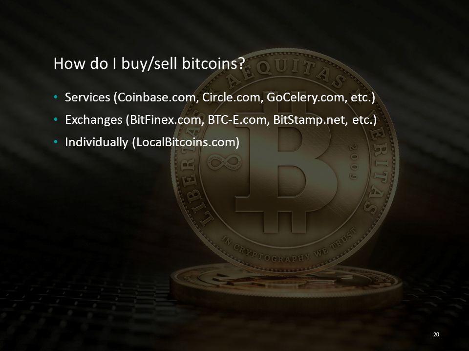How do I buy/sell bitcoins