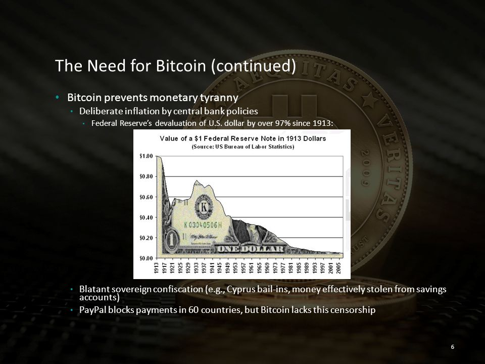 The Need for Bitcoin (continued)