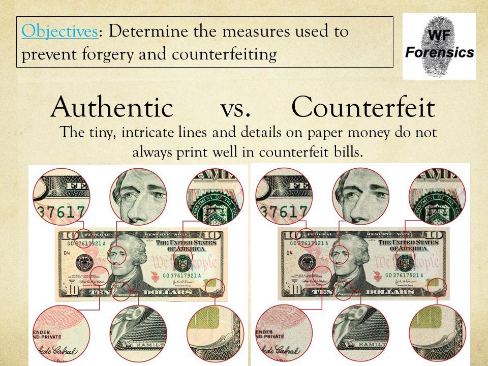 Authentic vs. Counterfeit