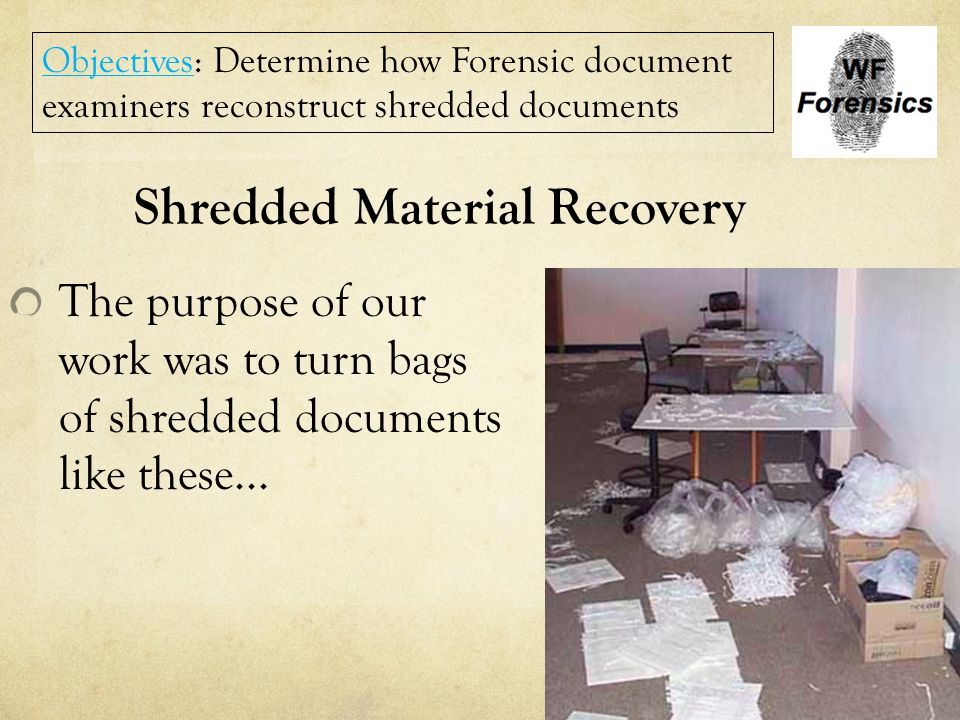 Shredded Material Recovery
