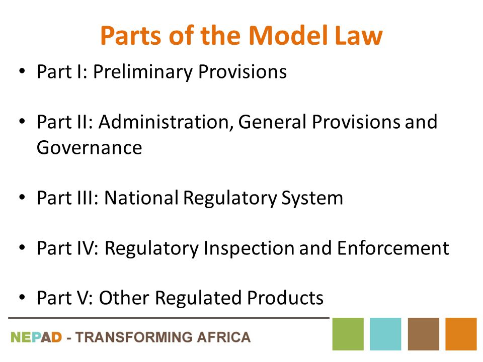 Parts of the Model Law Part I: Preliminary Provisions