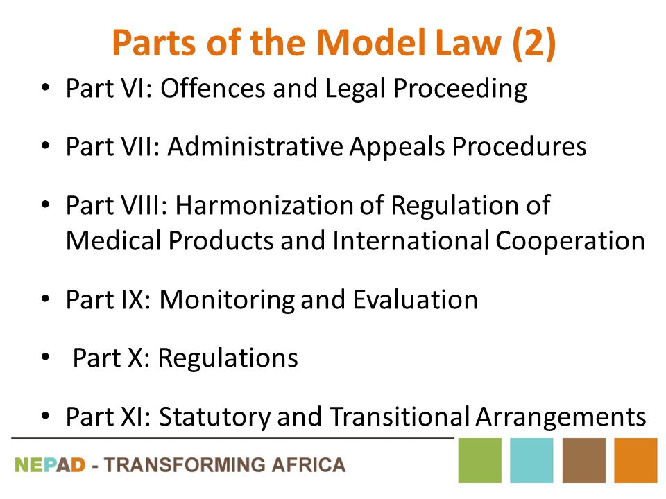Parts of the Model Law (2)