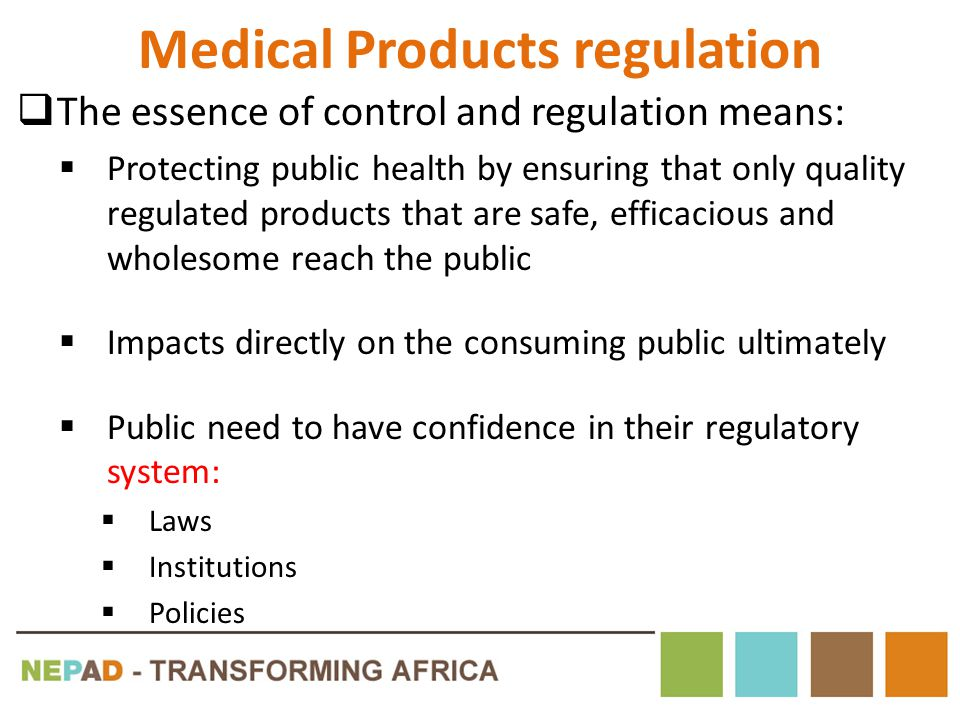 Medical Products regulation