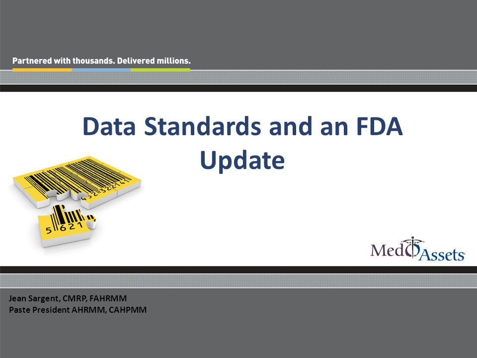 Data Standards and an FDA Update