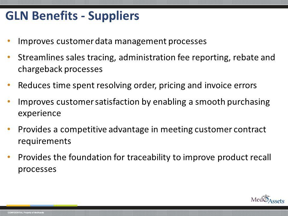 GLN Benefits - Suppliers