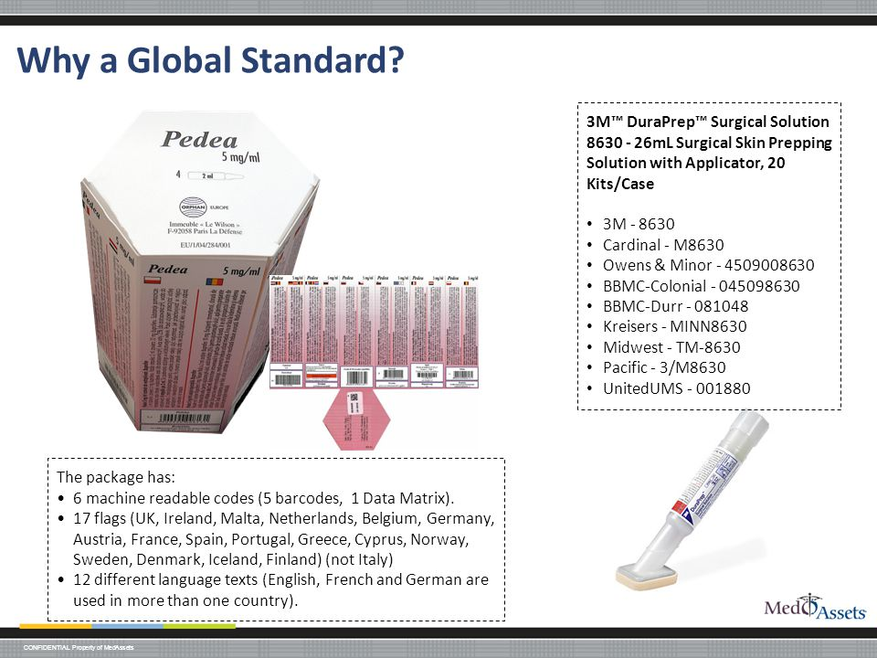 Why a Global Standard 3M™ DuraPrep™ Surgical Solution 8630 - 26mL Surgical Skin Prepping Solution with Applicator, 20 Kits/Case.