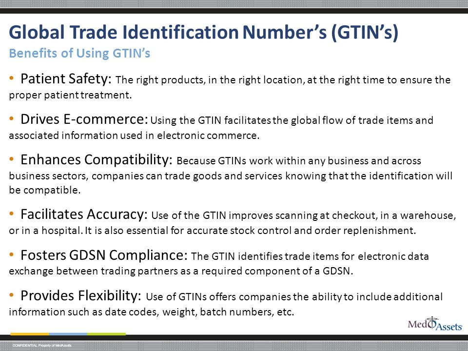 Global Trade Identification Number's (GTIN's) Benefits of Using GTIN's